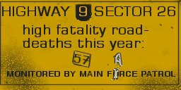 Highway fatality sign